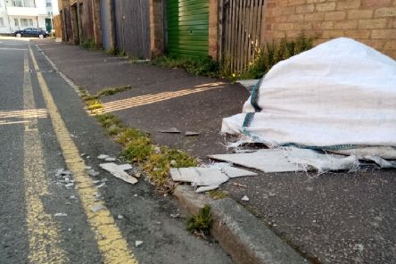 "Councillor Enam Haque says he is ""very upset"" that the potentially hazardous sheets have not been cleared away."