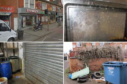 What food hygiene inspectors found at Freddy's Chicken on Weedon Road during a visit in February. Photo: Northampton Borough Council and Google