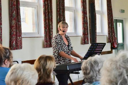Jess Hunting (pictured) is already an established musician, singer and former Rock Choir coach and is joining the Singing4Breathing group. Picture by Louise Smith.