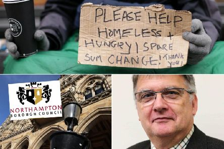 Councillor Stephen Hibbert [pictured] joined Phil Harris in giving councillors an update on homelessness in the town