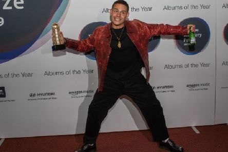 slowthai pictured arriving at last nights awards bash in London.