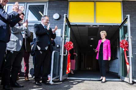 Business Secretary Andrea Leadsom MP was on hand to unveil the new building with fellow Northamponshire MP's Michael Ellis and Andrew Lewer.