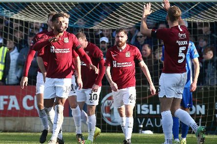 The Cobblers cruised to victory in the FA Cup on Sunday