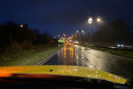 Picture taken this morning (Thursday) by Highways England.