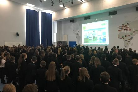 Joe Wicks was the star guest today at Kingsthorpe College