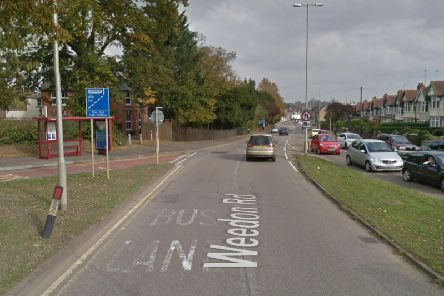 The bus lane on Weedon Road, Northampton. Photo: Google