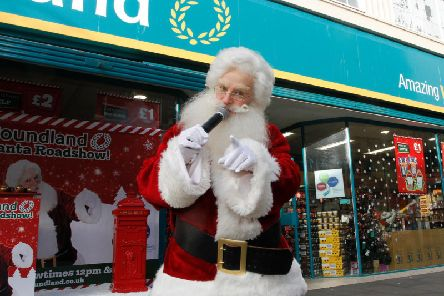 Santa Claus at Poundland