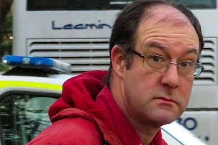 Christopher Goble outside Warwick Crown Court.