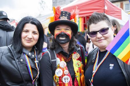 Revellers at Northampton Pride 2019