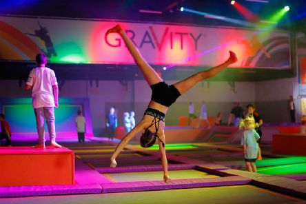 Trampolines are a big part of the Gravity Active Entertainment centre