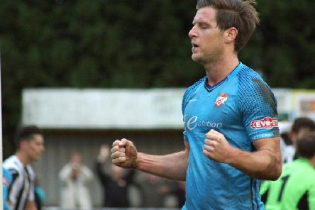 Adam Cunnington made an impressive impact from the bench as he helped Kettering Town to a fifth win in a row as they triumphed 2-1 at St Ives Town. Pictures by Peter Short
