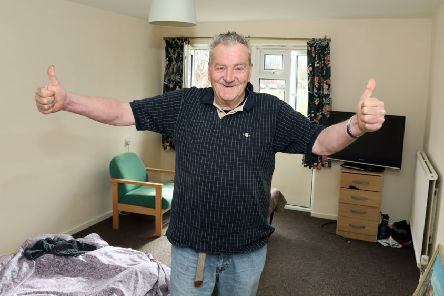 Rough sleeper Richard Jackson, 74, has been helped to move into a flat by staff at William H Brown
