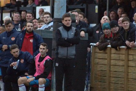 Marcus Law insists Kettering Town are only focused on their next game as they get ready to take on Rushall Olympic at Latimer Park. Picture by Peter Short