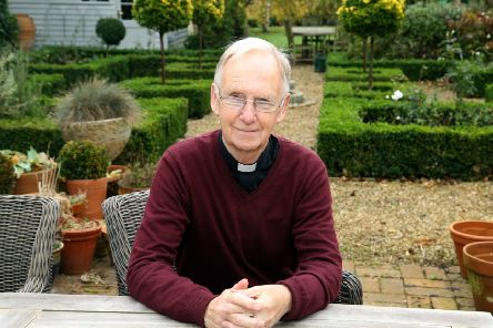 John Smith: Kettering: Rev Dr John Smith, founder of Cransley Hospice in the garden of his home in Barton Seagrave. 'Thursday October 26, 2017 NNL-171026-110334009