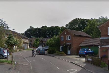 The incident happened in Ixworth Close this morning (March 21).