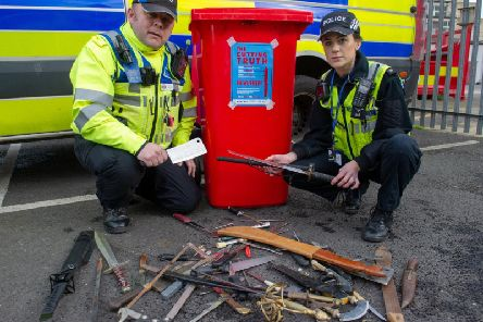A knife amnesty in Northamptonshire saw 147 weapons thrown away for good.