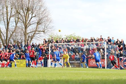Kettering Town secured promotion in front of a large travelling support at Halesowen Town. Picture by Peter Short