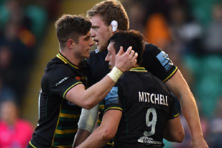 James Grayson (left) and Alex Mitchell have formed a fine partnership at Saints
