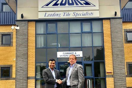 Tile Mountain Group chairman Mo Iqbal and managing director Jeremy Harris.