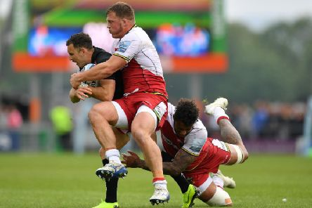 Alex Waller and Courtney Lawes were both sin-binned during the first half