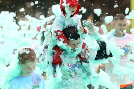 Bubble Rush raises at least £25,000 for Kettering hospice
