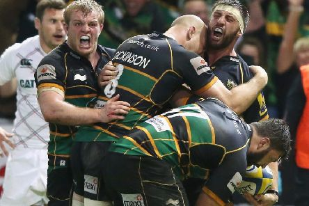 In the most memorable play-off semi-final of them all, Saints saw off Tigers thanks to Tom Wood's dramatic late try. Salesi Ma'afu was sent off for punching Tom Youngs, but Saints won and went on to claim their first Premiership title.
