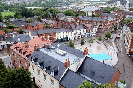 Birdseye view of Kettering