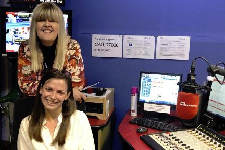 Rushden-born singer Jessica Smith, below, is pictured in the studio with Liz Jeeves of BBC Radio Northampton, after featuring on her radio show to promote her Crowdfunder and this Sunday's concert.