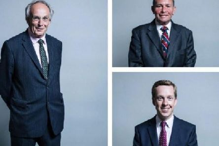 Clockwise from left: Peter Bone, Philip Hollobone and Tom Pursglove.