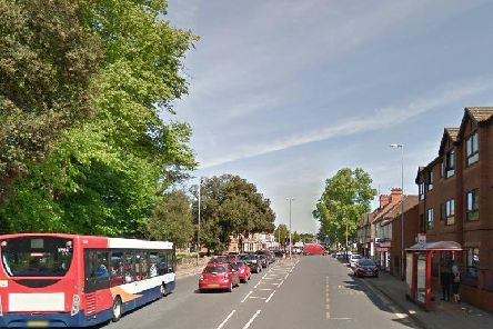 The incident happened in Harborough Road, Kingsthorpe.