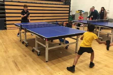 Corby's Rockingham Primary and Smash Table Tennis Club have joined forces