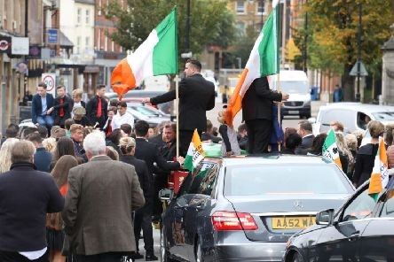 Some roads in Kettering were disrupted by a funeral cortege today