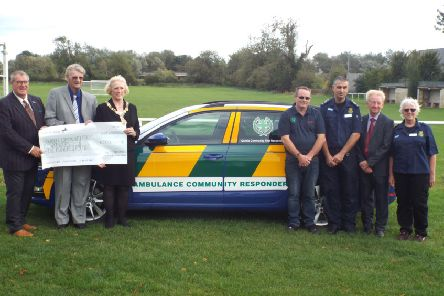 Oundle Community First Responders have leased a new car to reach more patients
