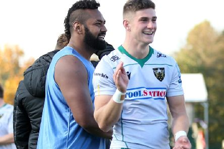 James Grayson was all smiles after giving Saints the win at Saracens