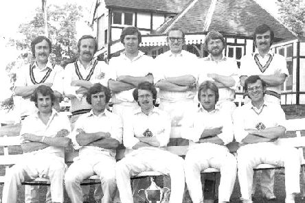 The Castor team that won the Stamford Spastics Cup in 1979, back row from left, Paul Turner, Chris Turner, Bruce Pell, Eddie Pugh, Paul Jex, Terry Moon, front, Dave Rager, Cliff Goode, Nigel King, Mick Jex, David Holmes.