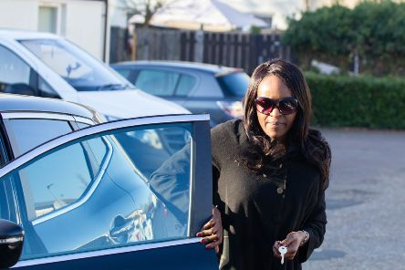 Fiona Onasanya arrives at her home in Peterborough. 'Picture by Terry Harris. THA THA