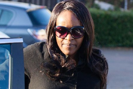 Fiona Onasanya arriving at her home in Peterborough after her release from prison. Photo: Terry Harris
