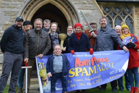 Warwick Davis helped promote Spamalot with the Westwood Musical Society