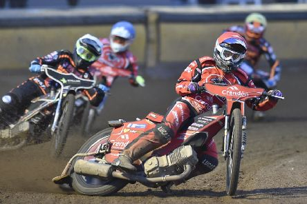 Rohan Tungate leads heat six for Peterborough Panthers against Wolves. Photo: David Lowndes.