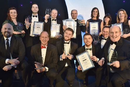 The winners' group from last year's Peterborough Telegraph Business Awards. EMN-181124-095420009