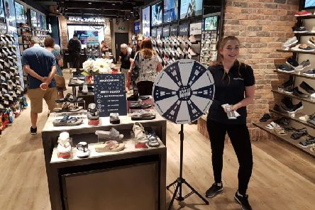 There will be a chance to play Spin and Win at Skechers in Queensgate.