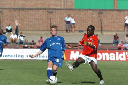 Action from a previous Kettering v Posh friendly.