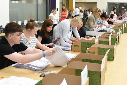 Votes being counted in Peterborough