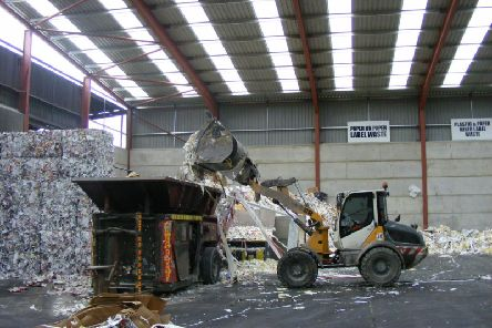 Paper recycling at one of the Mid UK depots.