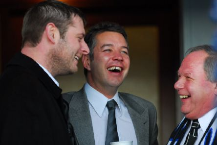 Posh personalities, from left, Darragh MacAnthony, Darren Ferguson and Barry Fry.