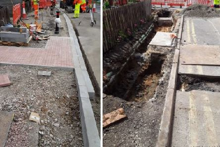 Ongoing works at Celta Road. Photo: Peterborough City Council