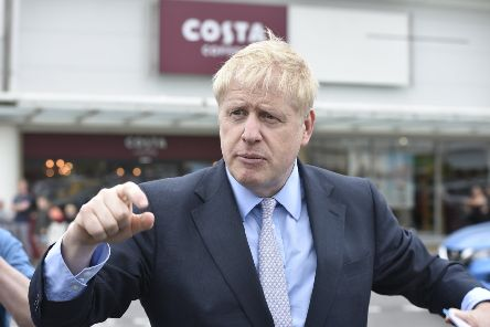 Boris Johnson at the Bretton Centre on a recent visit to Peterborough