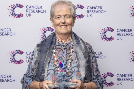 Annette Beeton at Cancer Research UK's Flame of Hope awards 2019