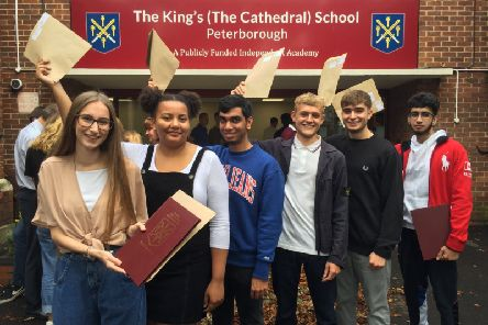 Pupils at The King's School celebrate