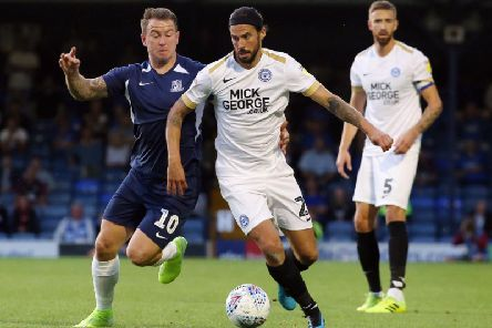George Boyd in action during Tuesday's win at Southend United (Picture: Joe Dent)
